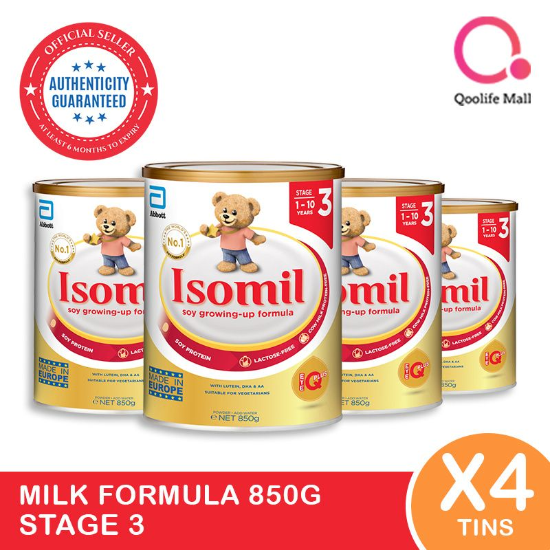 [Abbott]Bundle of 4Isomil 850g Stage 3 Deals for only S$141.26 instead of S$151.89