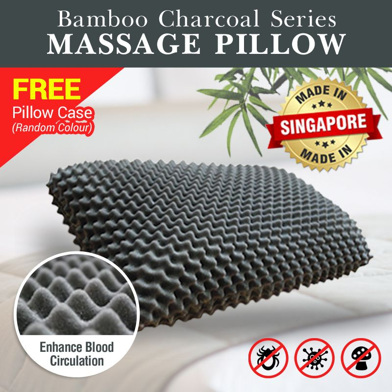Bamboo Charcoal Massage Pillow