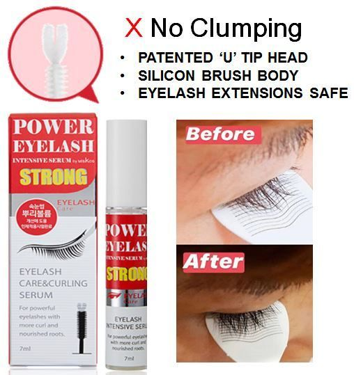 2020 KOREA MEGA HIT POWER EYELASH INTENSIVE SERUM STRONG CAN BE USED WITH LASH EXTENSIONS Deals for only S$32 instead of S$234