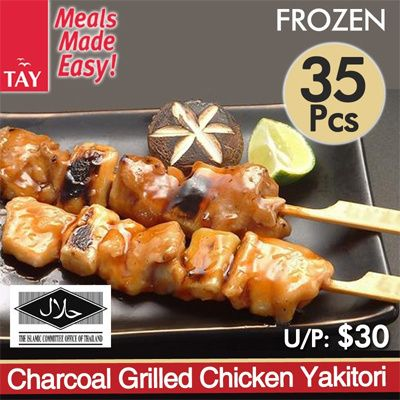 **BESTSELLER**[CS Tay] Charcoal Grilled Chicken Yakitori Deals for only S$13.9 instead of S$70