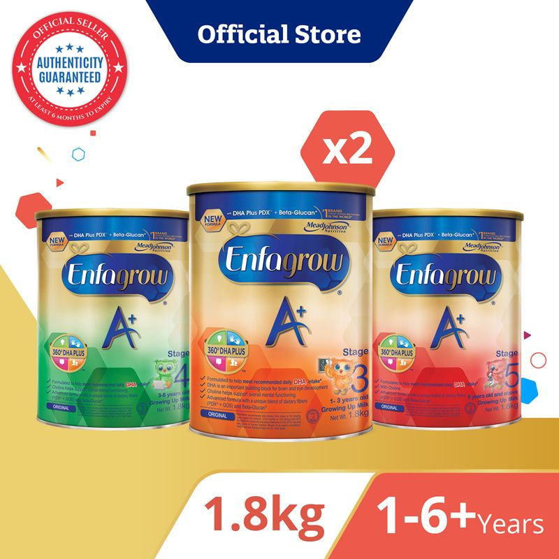 [Bundle of 2] Enfagrow A+ Baby Milk Powder Stage 3/4/5 Deals for only S$133.9 instead of S$211.1
