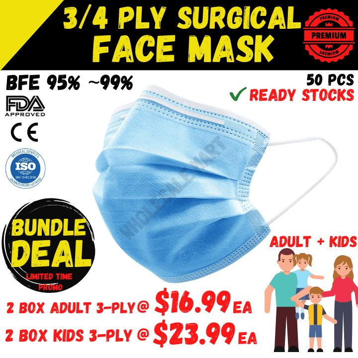 ADULTS+KIDS Surgical Mask