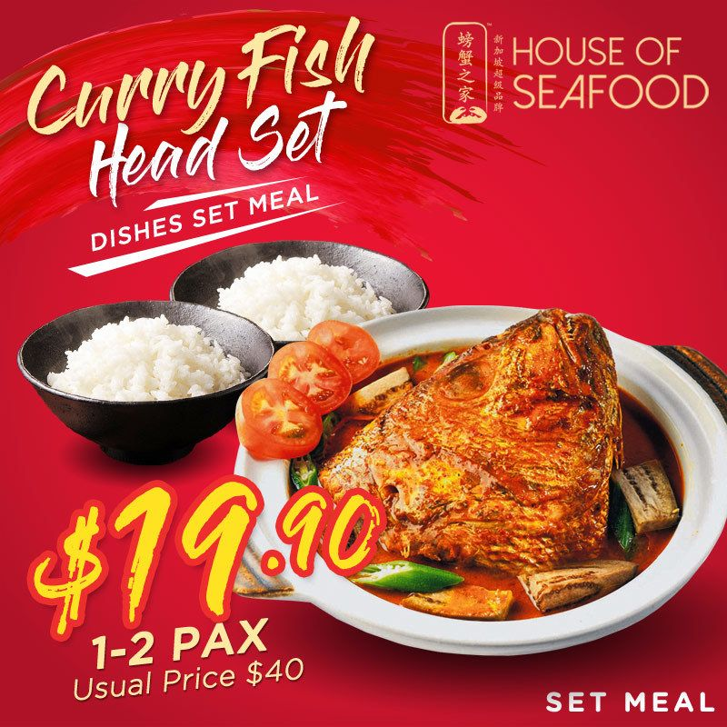 SEAFOOD] Curry Fish Head Set