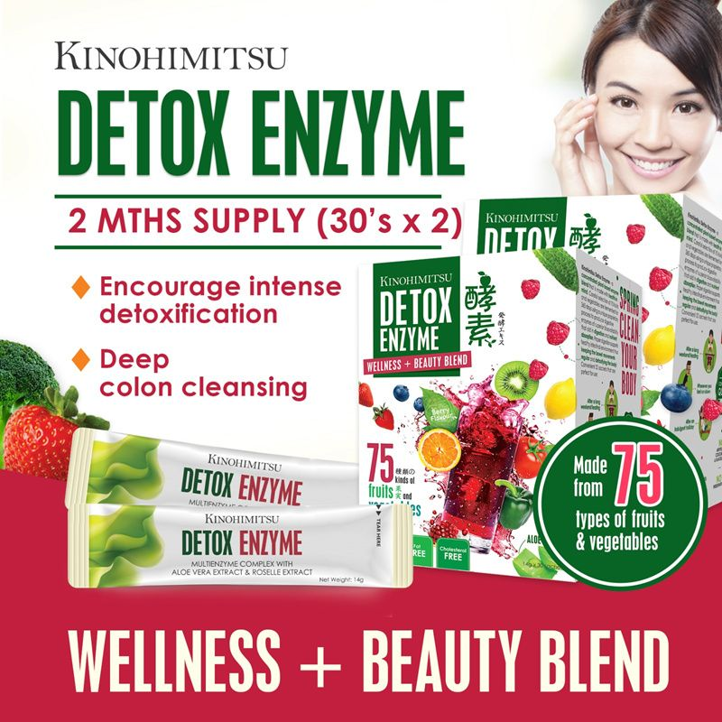 Kinohimitsu Detox Enzyme 30sx2  75 Types of Fruits n Vegetables * Digestive Enzyme