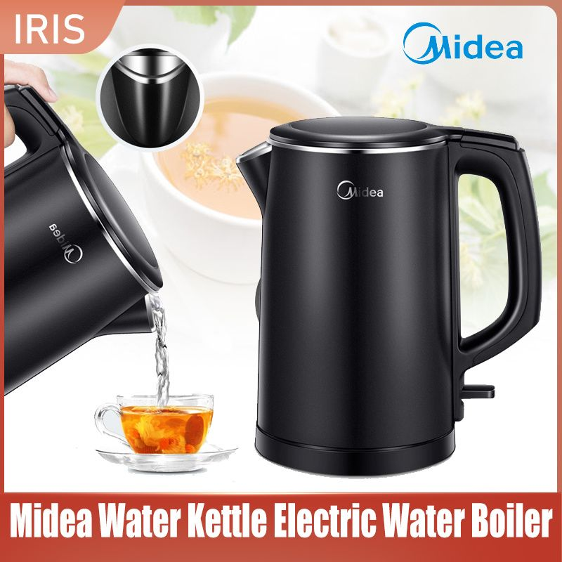 Midea Water Kettle Electric Water Boiler Automatic Power-off Stainless Steel Insulation Household
