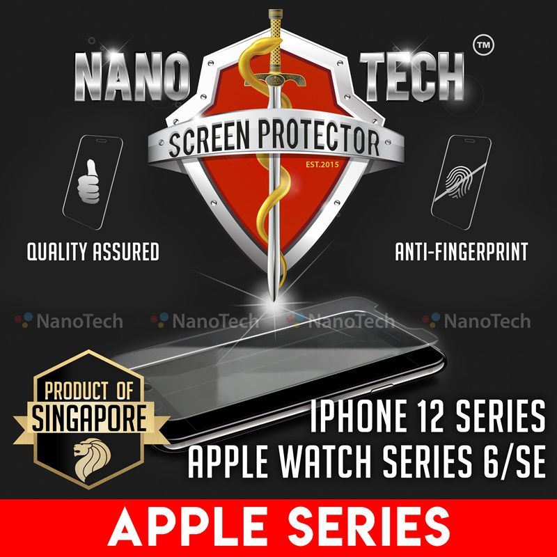 iPhone 12 Pro/Mini/SE/11 Pro Max/Xs/XR/8 Plus/6/X/Apple Watch Series Screen Protector Tempered Glass Deals for only S$6.99 instead of S$25.9