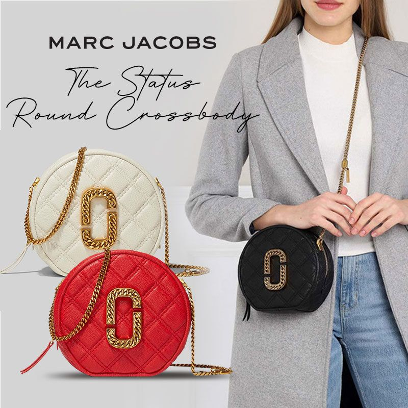 *New Arrival* Marc Jacobs The Status Round Crossbody/ With Receipt/100% Authentic/Local Seller/Ready