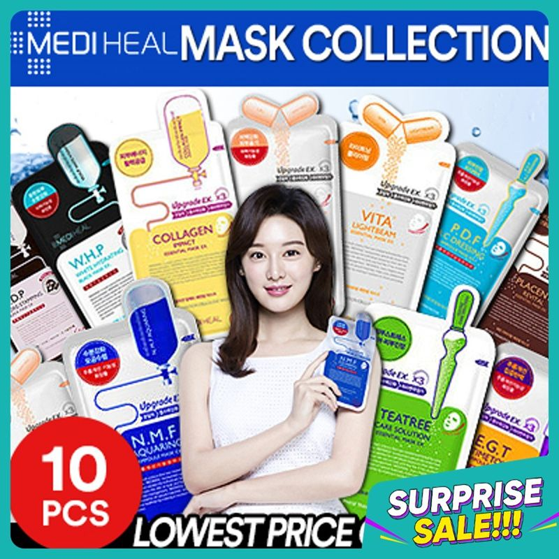 QOO10 LOWEST PRICE  BEST MASK SHEET 10PCS / TEATREE / COLLAGEN / INNISFREE / LANEIGE