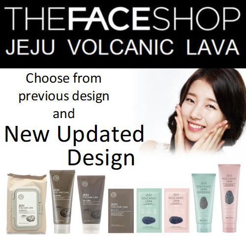The Face Shop Jeju Volcanic Lava Aloe / Volcanic Ash Nose Strip / Clay Mask / Pore Mud Pack + more