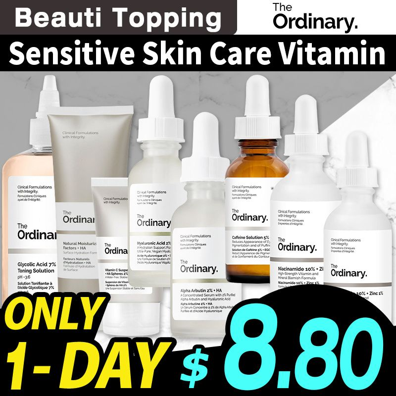 [The Ordinary] Sensitive Skin Care Vitamin Niacinamide 10%+Zinc 1% 30ml / 60ml Deals for only S$8.8 instead of S$25
