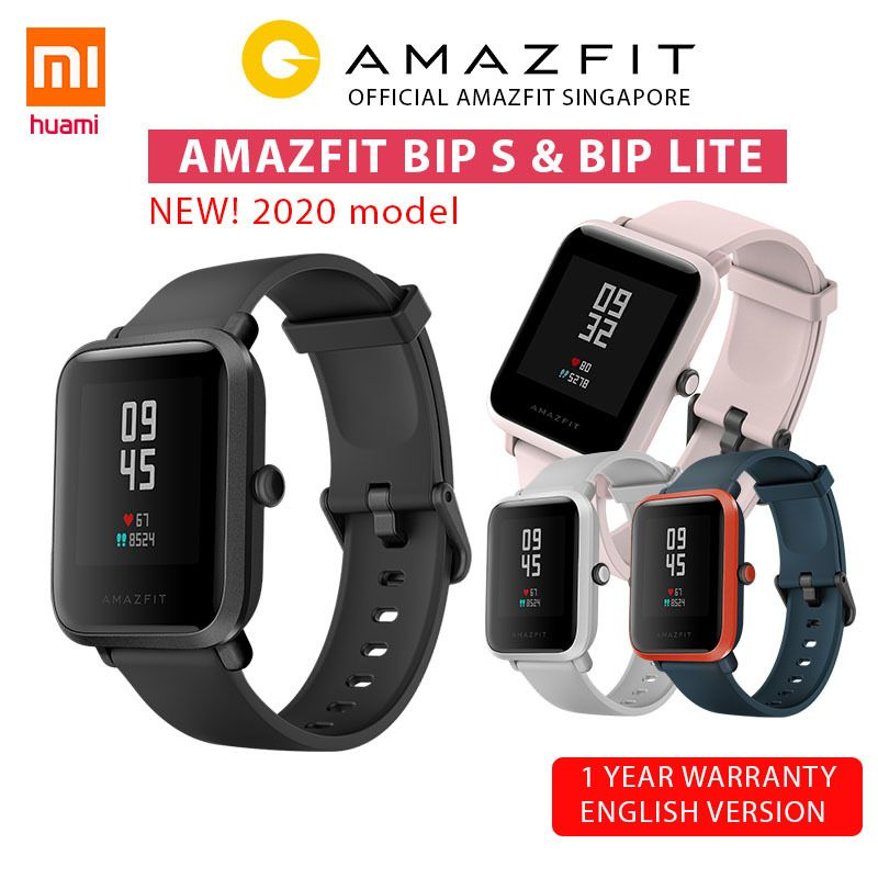 [Official Amazfit Singapore] XIAOMI HUAMI AMAZFIT BIP S SmartWatch | GPS | English Version Deals for only S$56 instead of S$99.89
