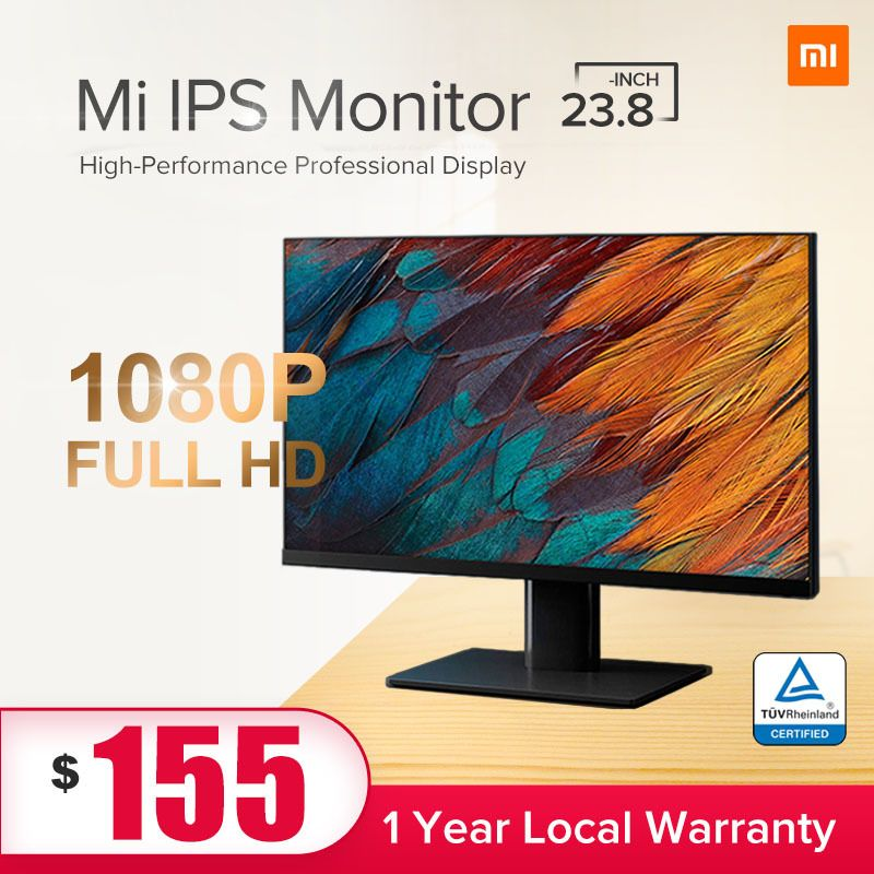 XiaomiMi Monitor 23.8-inch | IPS Panel | FULL HD 21:9  | 60Hz | Flicker Free Low Blue Light Gaming