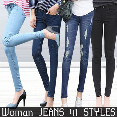 [HowDY] Premium Jean Women Autumn Jean / Woman Fall Jean / Slim Fitting Style / Korea Woman Fashion Deals for only S$23.9 instead of S$29