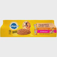 Pedigree Chopped Ground Dinner With Beef Deals for only $7.88 instead of $7.88