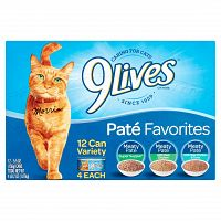 (12 Pack) 9Lives Pate Favorites Wet Cat Food, 5.5 oz. Can Deals for only $4.62 instead of $4.62