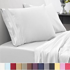 1500 Thread Count Egyptian Quality Microfiber Deep Pocket Bedroom Sheet Set Sweet Home Collection White Deals for only $20.55 instead of $24.39