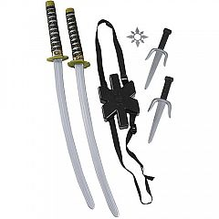 Ninja Double Sword Set Child Halloween Costume Accessory Deals for only $9.5 instead of $9.5