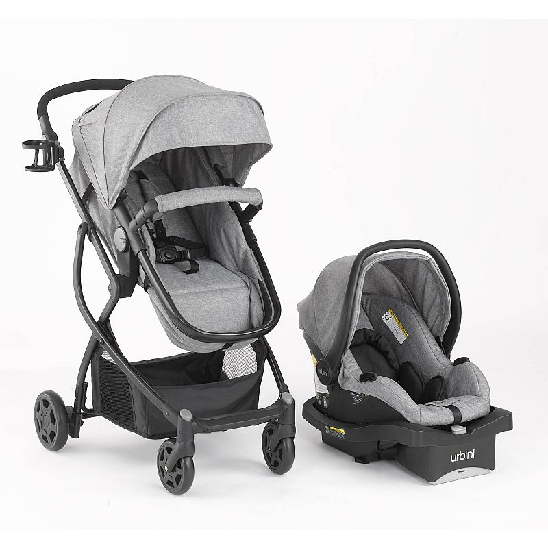 Urbini Omni Plus 3 in 1 Travel System, Special Edition, Heather Grey Deals for only $159.99 instead of $159.99