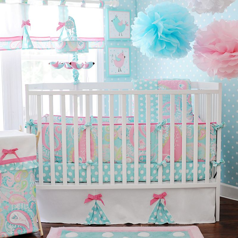 My Baby Sam Pixie Baby 3 Piece Crib Bedding Set, Aqua Deals for only $83.69 instead of $83.69