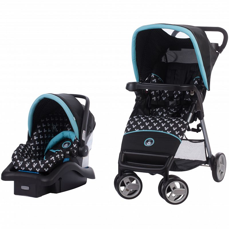 Disney Baby Simple Fold LX Travel System, Mickey Shadow