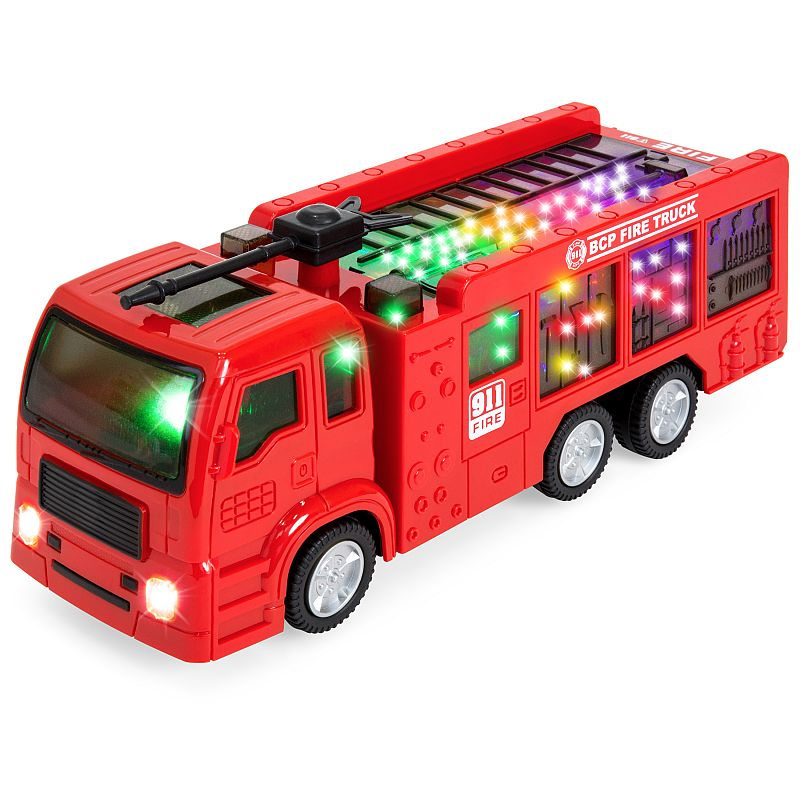 Best Choice Products Toy Fire Truck Electric Flashing Lights and Siren Sound, Bump and Go Action Deals for only $9.99 instead of $9.99