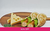 1-for-1 Signature Sausage Prata Wrap at GoGo Franks Singapore Deals for only S$4 instead of S$8