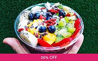 16oz. Acai Bowl and Fruit Juice for 1 Person at N Green Deals for only S$10.5 instead of S$14.2