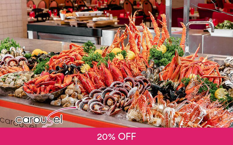 (Sun - Thu) International Dinner Buffet for 1 Child at Carousel @ Royal Plaza on Scotts