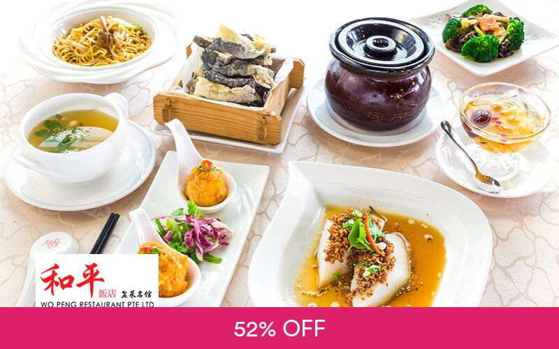 7-Course Cod Fish and Scallop Set for 1 Person at Wo Peng Restaurant Deals for only S$28 instead of S$58