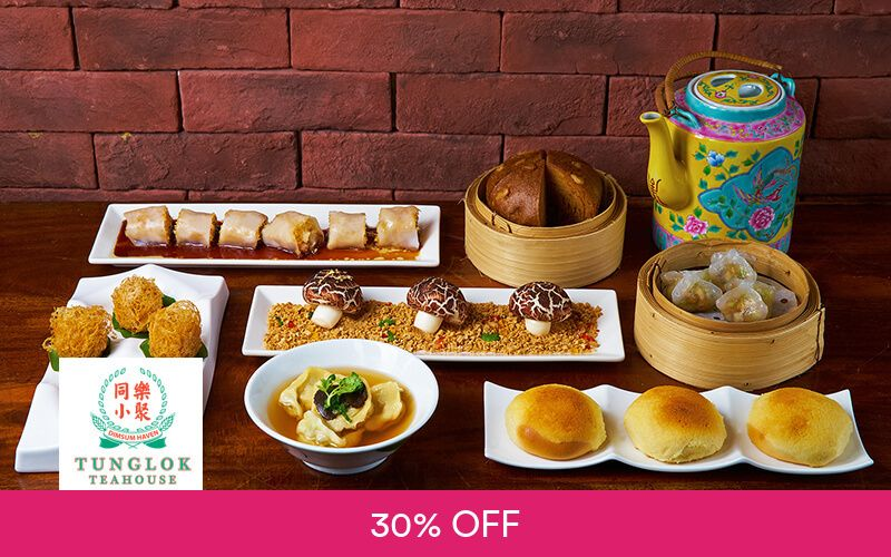 $200 Cash Voucher for Handmade Dim Sum and Cantonese Cuisine at TungLok Teahouse Far East Square