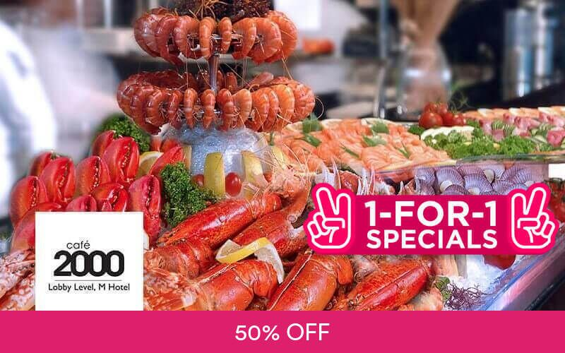 (Sun - Thu) 1-For-1 Seafood Extravaganza Dinner Buffet  at M Hotel Singapore