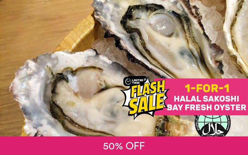 [Flash] 1-for-1 Sakoshi Bay Fresh Oyster Deal at Hei Sushi Deals for only S$4.5 instead of S$9