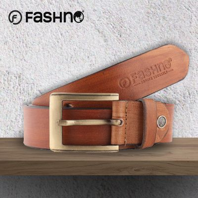 Fashno Men wooden Brown GenuineLeather Belt Deals for only $7.4 instead of $11.21